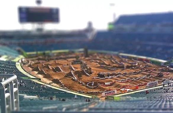 stadium tiltshift photography - 30+ Awesome Examples of Tilt-Shift Photography
