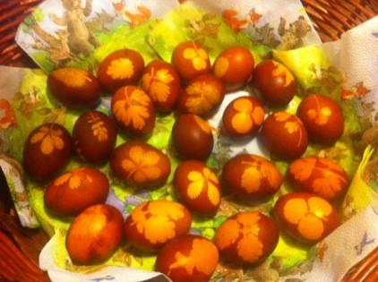oua cu frunze