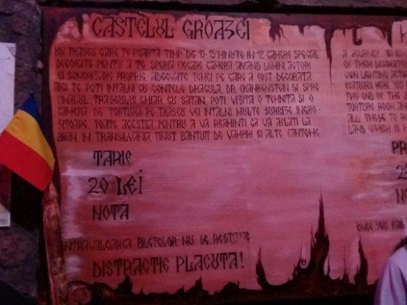 castelul groazei dracula