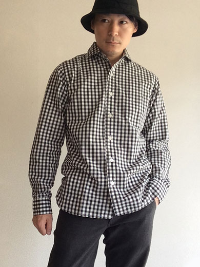 Widespread Shirt, Black Gingham