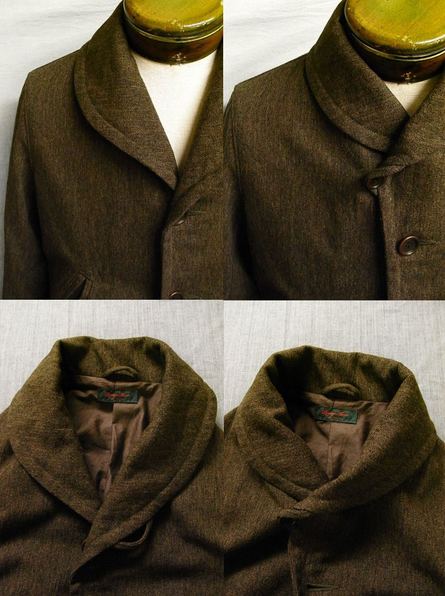 victorians shawlcollar wool coat