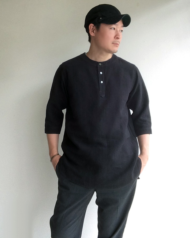antiqued german linen shirt/DjangoAtour