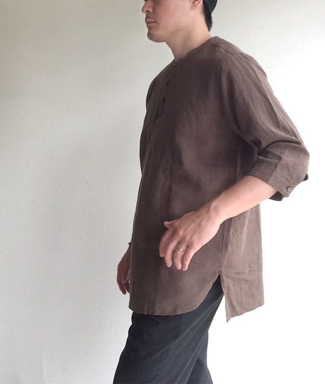 antiqued german linen shirt/DjangoAtour