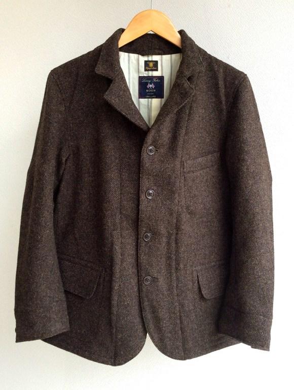 classic shetlandwooltweed tailor jacket