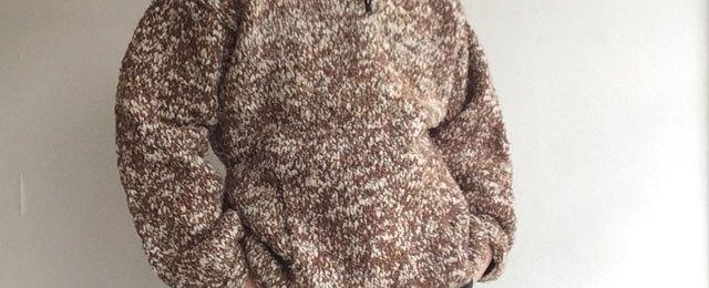 1990's Ecuadorian Hand Knit Parka Light Brown