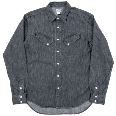 Western Shirt, 8 oz Black denim Workers