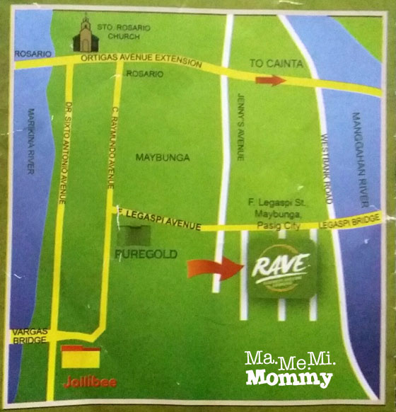 RAVE of Pasig map