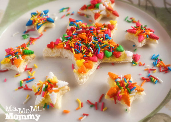 STAR Fairy Bread, a New Snack Idea