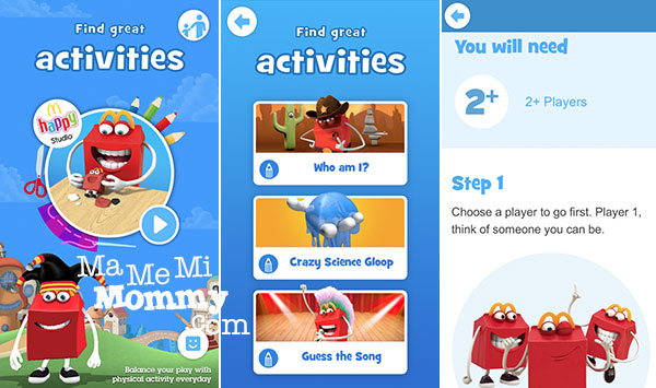 McDo Happy Studio App - Activities