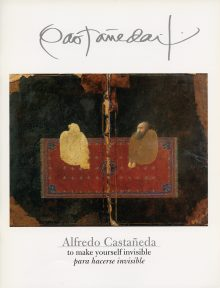 The cover of a catalogue of works by Alfredo Castaneda
