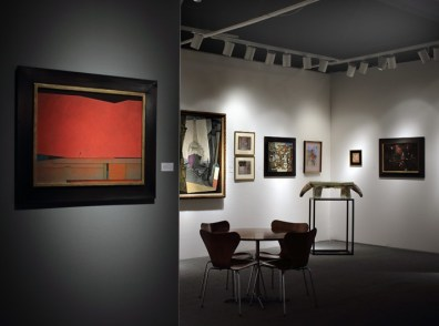 Installation shot of the gallery's booth at the Art Show 2015