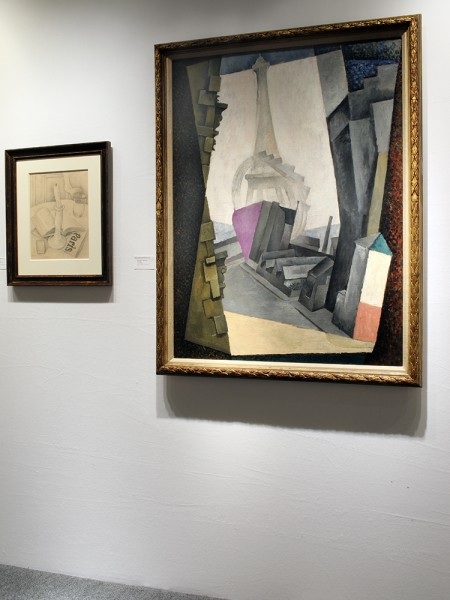 Installation shot of two works by Diego Rivera at the Art Show 2015