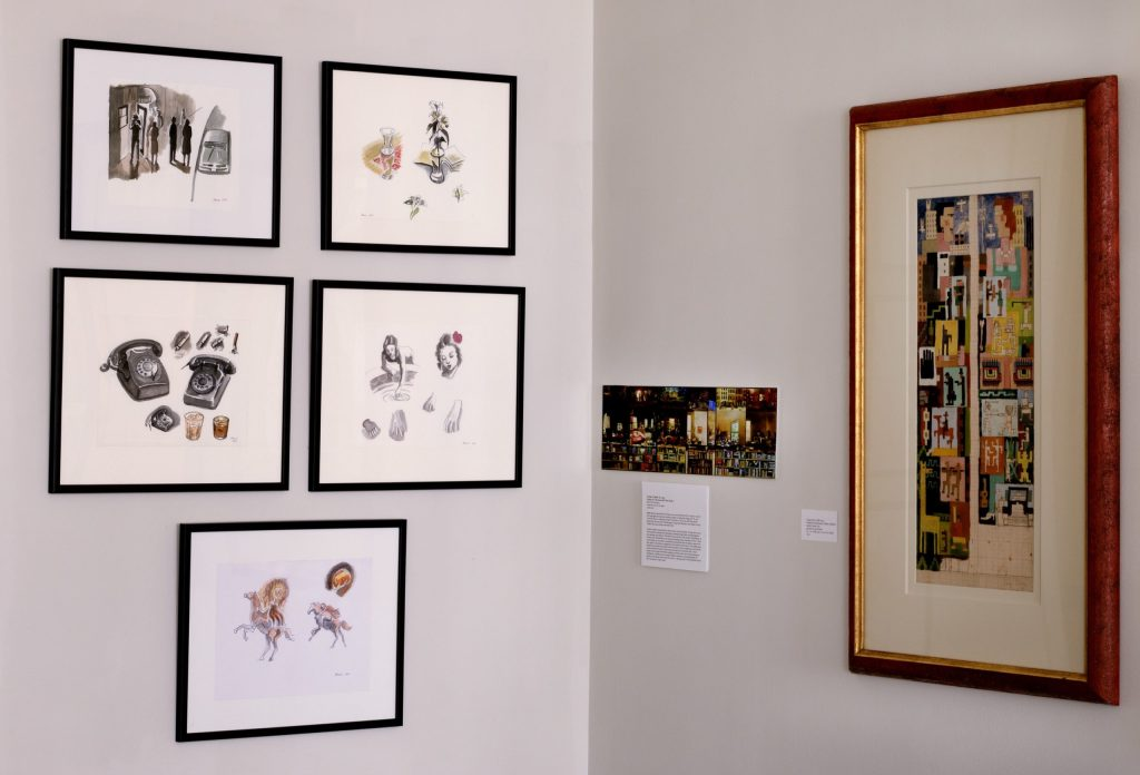 Installation shot of the gallery's show Drawings by the Muralists