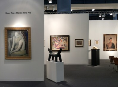 Installation shot of the gallery's booth at Art Basel Miami Beach 2014