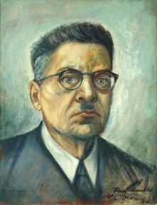 A self portrait by Jose Clemente Orozco, painted in oil.