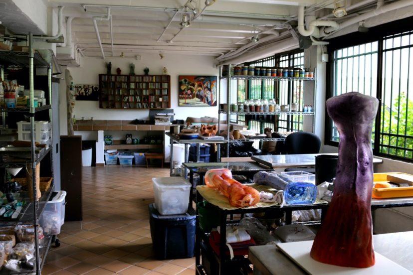 Isabel De Obaldía's studio. Photo courtesy of Messy Nessy Chic.