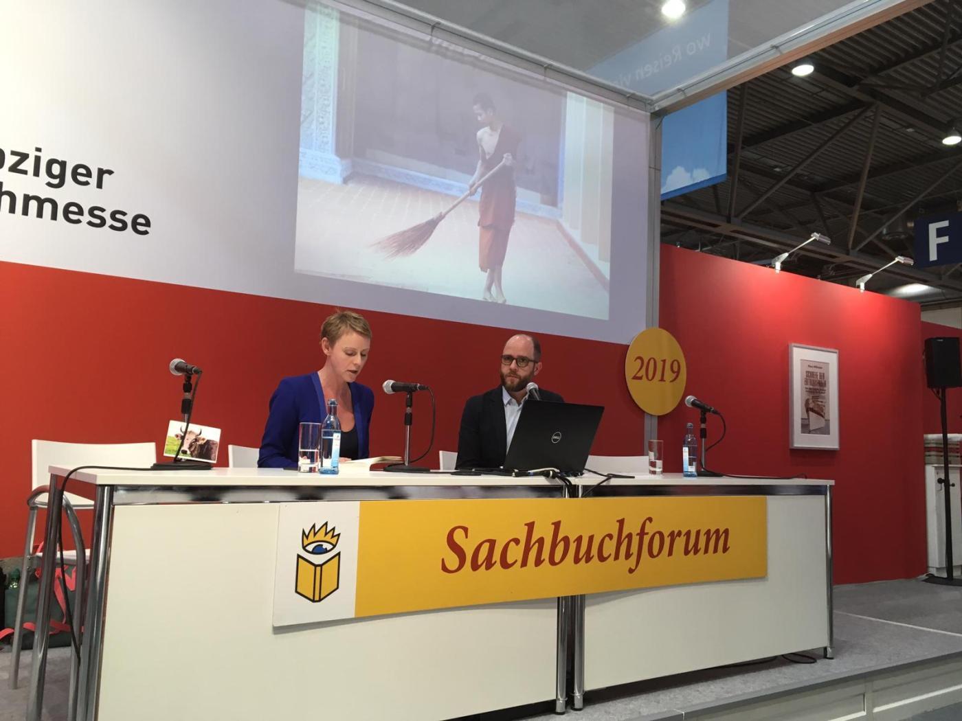 Gabriela Urban Leipziger Buchmesse Lesungen aus «Wie Buddha im Gegenwind»