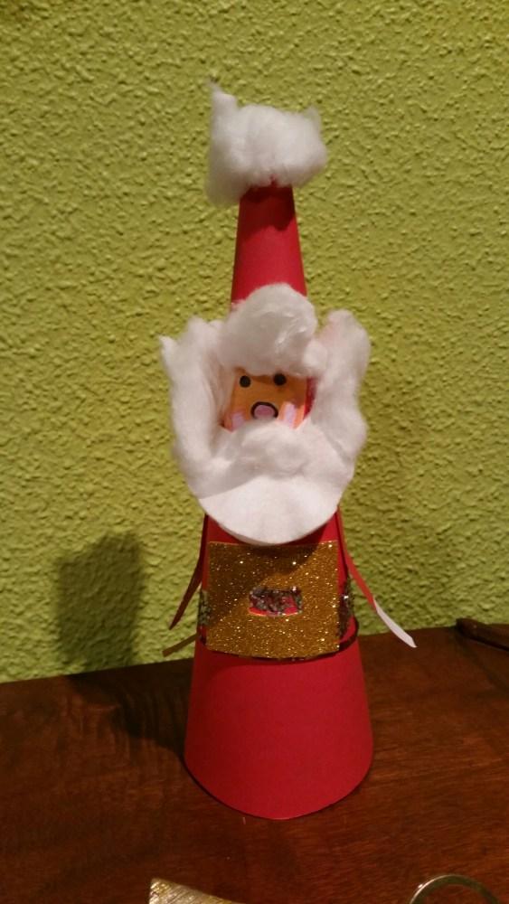 Papa Noel de cartulina
