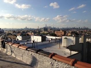 Vista hacia Manhattan del techo de mi edificio.