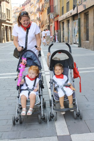 Los más pequeños recorriendo la ciudad en ruedas.