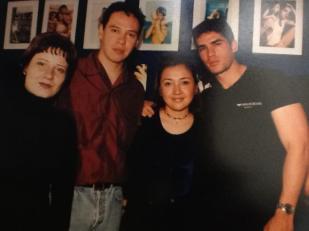 1998. Con Eduardo Verástegui y Pepe Quintero.