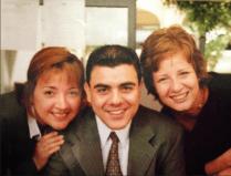 En la Redacción de El Norte con mis amigos Cristina Moreno y Eduardo Molina.
