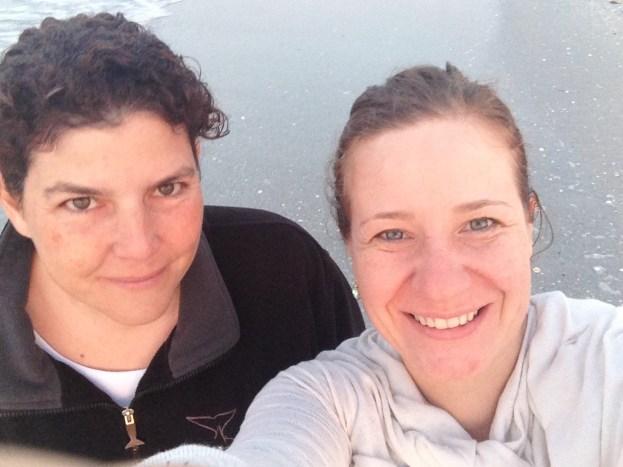 Con mi amiga Ana Barrio, quien se está preparando para ser facilitadora de los talleres.