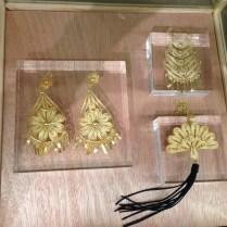 Estos hermosos aretes de filigrana son parte de la colección de Hacienda Montecristo.