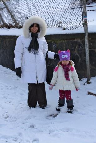 Cristina con Abu.