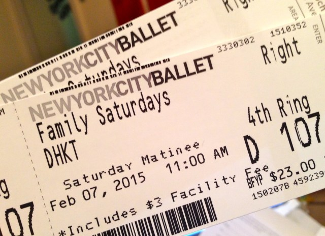 NYC Ballet tickets