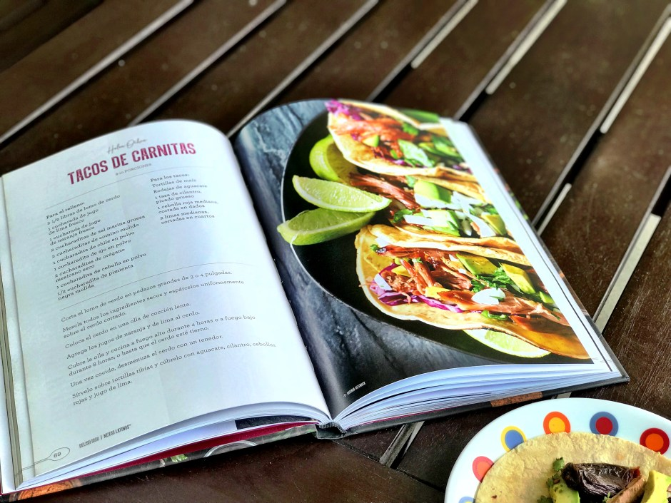recetario delishioso, recetario delish-ioso, receta de tacos de carnitas