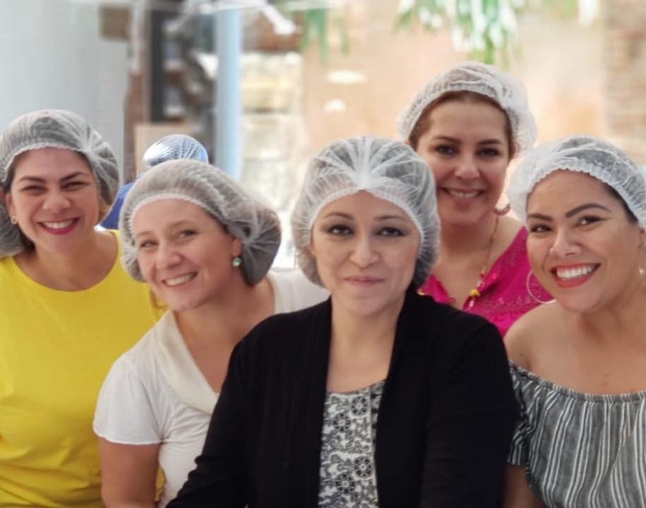 Gianny Liranzo, Ana Cristina Enríquez, Laura Zmora, Ana María Canseco y Becky García