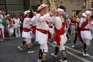 Un baile típico de las fiestas.