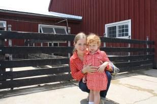 Cristina y yo disfrutamos muchísimo de la visita a la granja.