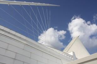 Vista del Mueso de Arte de Milwaukee.