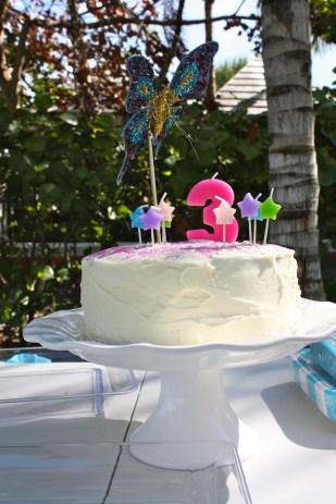 El pastel de cumpleaños.