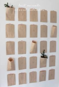 Adventni koledar iz papirnatih vrečic
