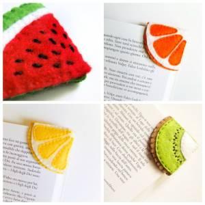 Felt-fruit-corner-bookmarks