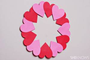 Paper-heart-wreath
