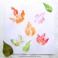 Leaf-Printing-With-Watercolors