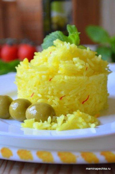 Рис с шафраном