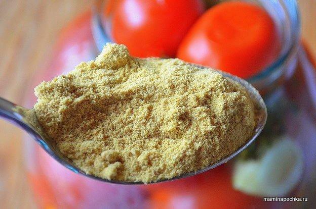 Закуска из помидоров с горчицей и петрушкой - рецепт пошаговый с фото