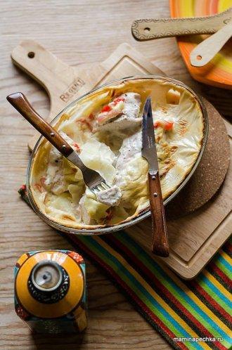 Рецепт куриное филе, запечённое с картофелем