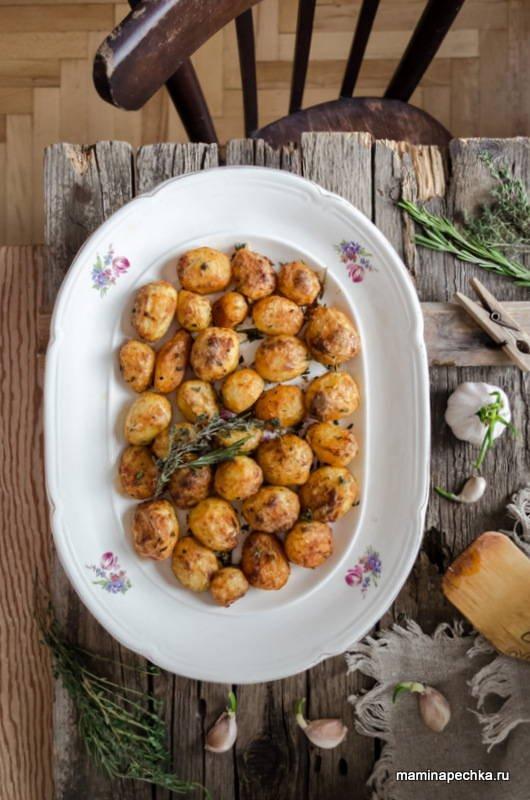 Хрустящая запеченная картошка - рецепт пошаговый с фото