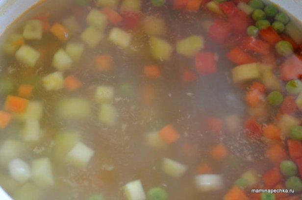 суп с индейкой