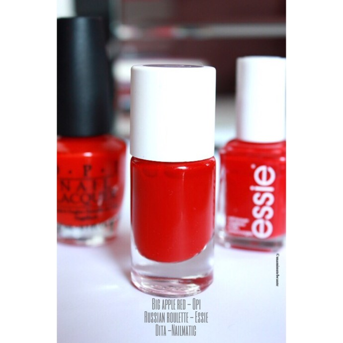 Vernis rouge essie opi nailmatic