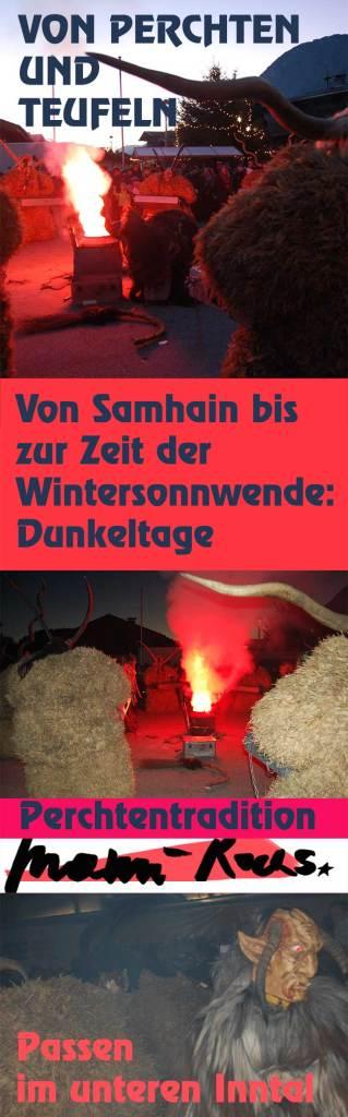 Von Samhain bis zue Wintersonnenwende: die Dunkeltag mit Teufeln, Perchten und Passen im unteren Inntal
