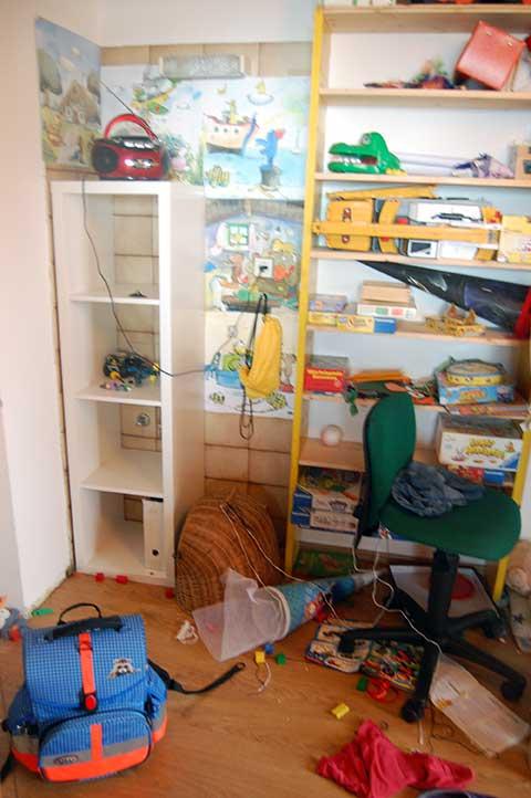 Leben mit drei Kindern: wiederverwertbare Schulsachen