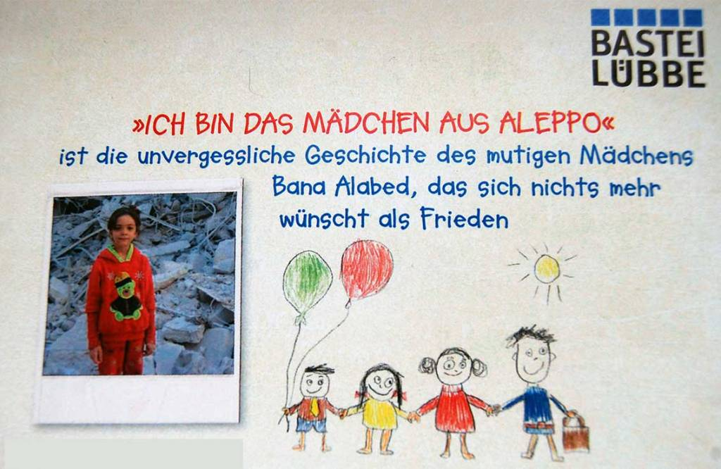 """Spendenaktion für Flüchtlingskinder """"Kinder malen für Kinder"""" zum Buch """"Ich bin das Mädchen aus Aleppo"""""""
