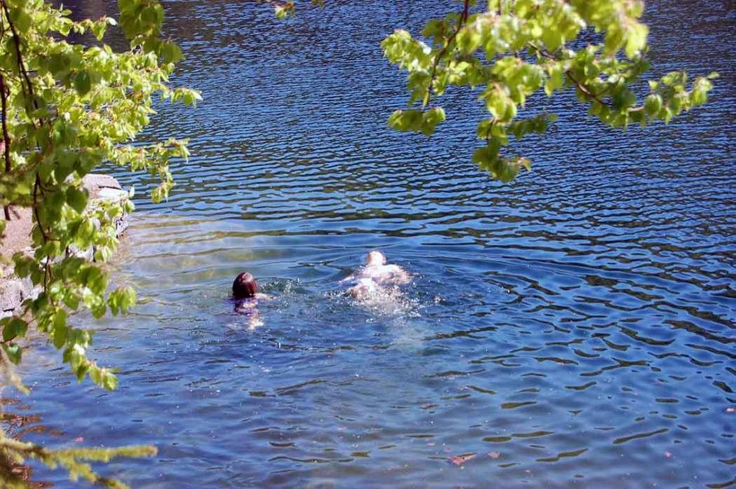 Mutprobe für Naturkinder: Sprung ins Eiswasser